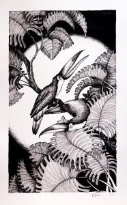 Toucans, dessin terminé (Lise Lalève)