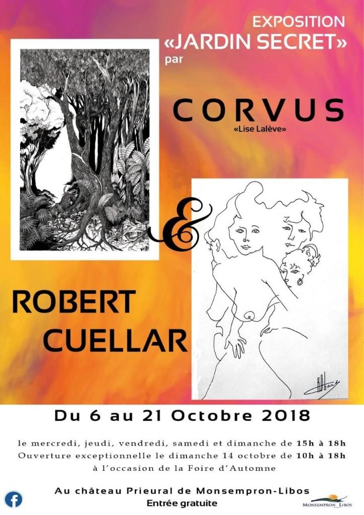 affiche expo Lise Lalève Robert Cuellar